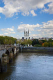City of Angers  with  St Maurice, France Stock Photos