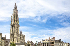 City Anvers, belgium with blue sky Royalty Free Stock Photography