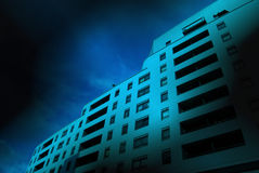 City apartment block Stock Images