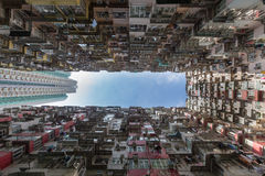 City apartment from bottom view Royalty Free Stock Photography