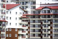 City apartment buildings Stock Photography