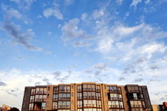 City apartments with a view. Façade of a modern city apartment block royalty free stock photos
