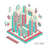 City app Royalty Free Stock Images