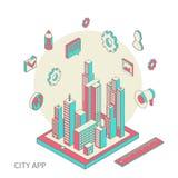 City app Royalty Free Stock Photo