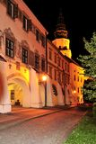 City Arcade & Kromeriz Castle at Night Stock Photography
