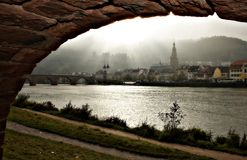 City in arch. Heidelberg germany Stock Photos
