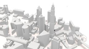 City ARCHITECTURAL buildings, illustration 3d. BIG CITY ILLUSTRATION WHERE LVE URBAN PEOPLE ALL OVER THE WORLD vector illustration