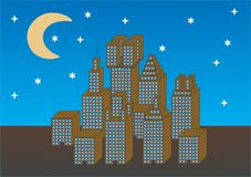 City architecture. The vector image stock illustration