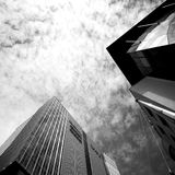 City architecture. Artistic look in black and white. Royalty Free Stock Images