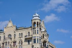 City architecture of Baku, old historical building Royalty Free Stock Photos