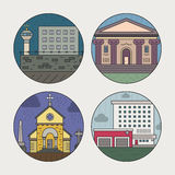 City architecture icons Royalty Free Stock Images