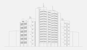 City architecture illustration Royalty Free Stock Image