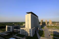 City architecture landscape under the blue sky Stock Photos