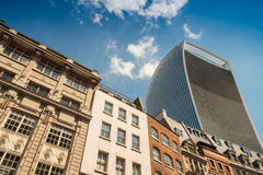 City architecture. Modern and ancient buildings on a beautiful d Stock Photos