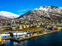 City in the Arctic Royalty Free Stock Photo