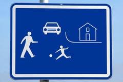 City area sign. Road traffic children city area beware sign Stock Image