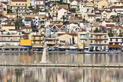 City of Argostoli at Kefalonia in Greece Stock Photo