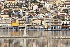 City of Argostoli at Kefalonia in Greece Stock Photo