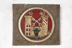 City arms of Crimmitschau, Germany, 2015 Royalty Free Stock Photos