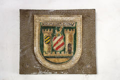 City arms of Crimmitschau, Germany, 2015 Stock Image