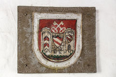 City arms of Crimmitschau, Germany, 2015 Stock Photography