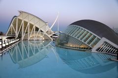City of art and science in Valencia Stock Image