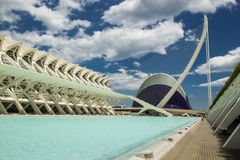 The city of arts and aciences In Valencia, Spain Royalty Free Stock Photography