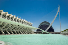 The city of arts and aciences In Valencia, Spain Stock Images