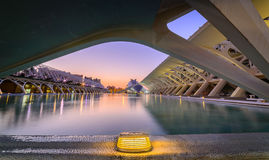 City of arts, modern building in Valencia. Stock Image