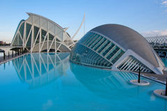 City of Arts and Science, Valencia Royalty Free Stock Images