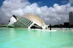 City of Arts and Sciences. L'Hemisferic and Palau de Les Arts stock photos