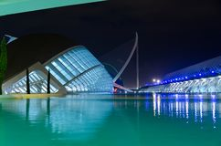 City of the arts and sciences. Night view of City of the arts and sciences at Valencia, Spain Stock Photography