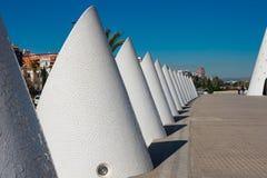 City of Arts and Sciences. Architects Santiago Calatrava and Felix Candela. Valencia, Spain. February 6, 2019. Outside Reina Queen Sofia Palace of the Arts stock image