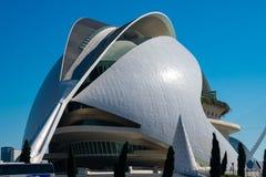 City of Arts and Sciences. Architects Santiago Calatrava and Felix Candela. Valencia, Spain. February 6, 2019. Reina Queen Sofia Palace of the Arts Palacio de royalty free stock images