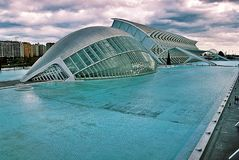 The City of Arts and Sciences. Is an architectural, cultural and entertainment complex of the city of Valencia. The complex was designed by Santiago Calatrava stock photos
