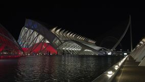 City of Arts and Sciences with The Assut de l`Or Bridge at night, Valencia