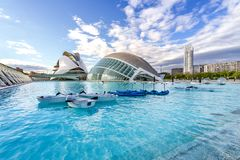 City of Arts and Sciences. In Valencia. A complex of buildings created by the architect calatrava Royalty Free Stock Photo