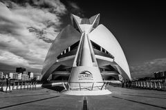 City of Arts and Sciences. In Valencia. A complex of buildings created by the architect calatrava Royalty Free Stock Photos