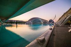 City of arts and sciences. In Valencia, Spain, on a day of summer stock photos