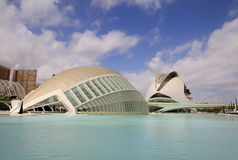 City of arts and sciences designed by Santiago Calatrava architect in Valencia, Spain Royalty Free Stock Images