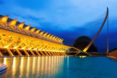 City of Arts and Sciences - El Museu de les Ciencies Principe F. VALENCIA, SPAIN - AUGUST 26: City of Arts and Sciences - El Museu de les Ciencies Principe stock photo