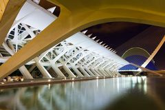 City of Arts and Sciences - El Museu de les Ciencies Principe F Royalty Free Stock Image