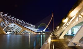 City of Arts and Sciences in evening royalty free stock image