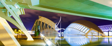 City of Arts and Sciences  in evening Royalty Free Stock Photo
