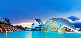 City of Arts and Sciences in evening Royalty Free Stock Photos