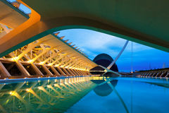 City of Arts and Sciences in evening Stock Images