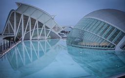 Hemisferic, City of arts and science, Valencia, Spain. City of Arts and Sciences is a must. Work of the Valencian architect Santiago Calatrava, several of its