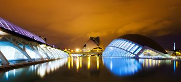 City of Arts and Sciences in night . Valecia, Spain Stock Image