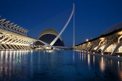 City of Arts and Sciences by night Stock Images