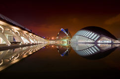City of arts and sciences - opera wide view Stock Image